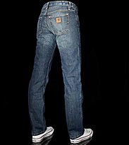 Carhartt W Slim Pant Niland blue used washed