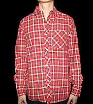 Stussy Shirt Zap Plaid red