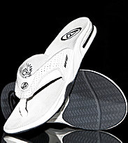 Reef Flipflops Leather Fanning white