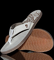 Reef Flipflops Leather Smoothy white craq