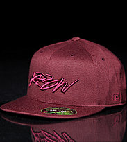 Krew Flex Fit Cap Skript red maroon