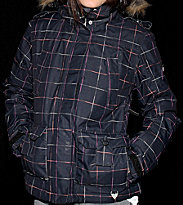 Roxy Snowjacket In The Navy black print
