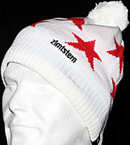 Zimtstern Beanie Star 11 white/red