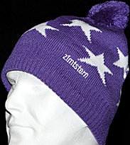Zimtstern Beanie Star 11 purple/white
