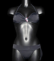 Roxy W Bikini Flash Forward 70S Lowride black true black