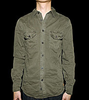 Revolution Shirt David green grey