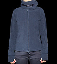Bench W Zip Hooded Funnel Neck blue navy