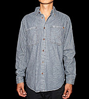 Insight Shirt Chosen Few blue stripee indigo