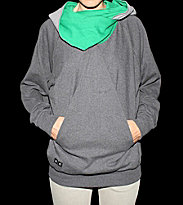 Ucon W Hooded Karat grey dark grey/green