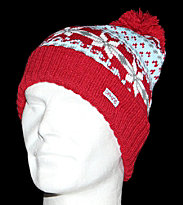 Dakine Beanie Maggie red cherry brandy