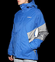 Zimtstern W Snowjacket Canopia blue royal/grey melange