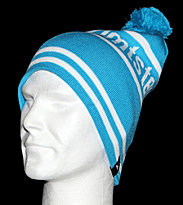 Zimtstern Beanie Lost blue/white