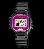 Casio Watch LA-20WH black/pink