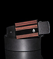 Nixon Belt Rotolog brown dark wood