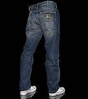 Carhartt Texas Pants Hanford blue torn washed
