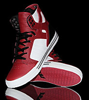 Supra Shoes Skytop red/black leather/white