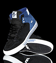 Supra Shoes Vaider black/blue navy suede