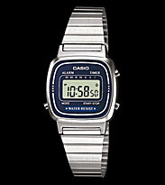 Casio Watch LA670WEA silver/blue