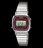 Casio Watch LA670WEA silver/red