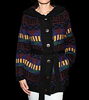 Insight W Cardigan Geo Chunky multicolor geo stripe