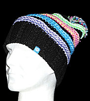 Roxy Beanie Pollywog black multicolor stripe