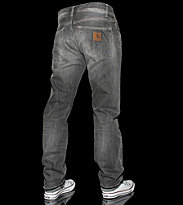 Carhartt Klondike Pant Phoenix grey black retro washed