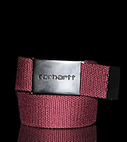 Carhartt Clip Belt red wine/black