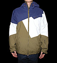 Zimtstern Snowjacket Gates green olive/navy/white