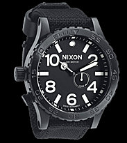 Nixon Watch The 51-30 Tide black all black nylon