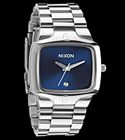 Nixon Watch The Player silver blue sunray