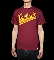 Carhartt T-Shirt Rail Script red varnish/zest