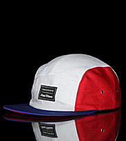 Sixpack 5 Panel Cap French white/blue/red