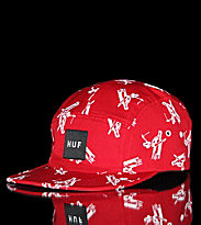 Huf 5 Panel Cap Joyride Volley red