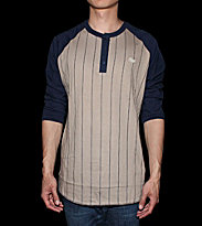 Obey Baseball Shirt Outfield beige cobblestone/mood indigo