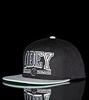 Obey Snap Cap Obey Athletics black/grey