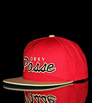 Obey Snap Cap Obey Posse red/tan