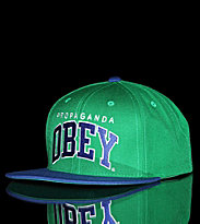 Obey Snap Cap Throwback green/royal blue