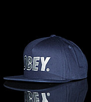 Obey Snap Cap The City blue light navy
