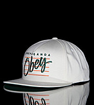 Obey Snap Cap Sidelines white natural