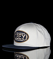 Obey Snap Cap Obey Oval white natural/navy
