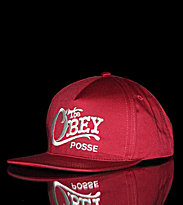 Obey Snap Cap Quality Delivery red burgundy