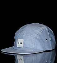 Huf 5 Panel Cap Oxford Volley blue