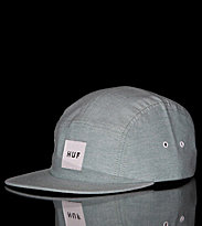 Huf 5 Panel Cap Oxford Volley green