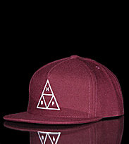 Huf Snapcap Triple Triangle red maroon