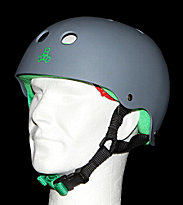 Triple 8 Helmet Rubber grey carbon rubber