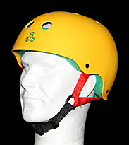 Triple 8 Helmet Rubber yellow rasta