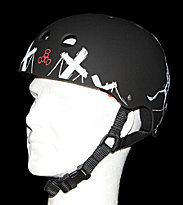 Triple 8 Helmet Robot black robot dark