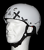 Triple 8 Helmet Robot white robot light